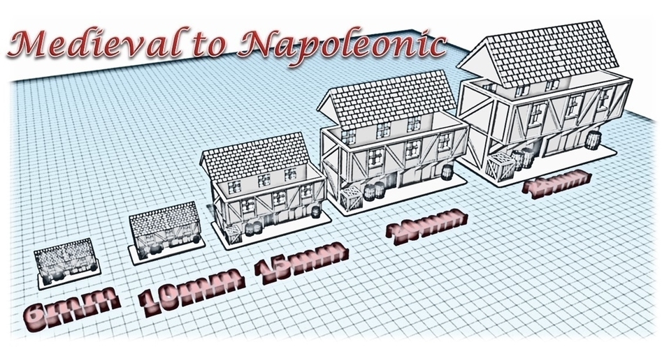 House 6 - Wargame medieval to napoleonic 3D Print 189929