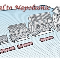 Small House 6 - Wargame medieval to napoleonic 3D Printing 189929