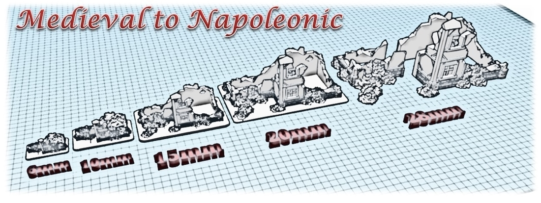 Ruined house - Wargame medieval to napoleonic 3D Print 189930