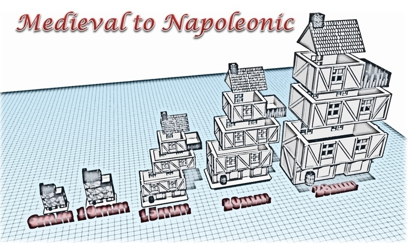 Building 1 - Wargame medieval to napoleonic 3D Print 189931