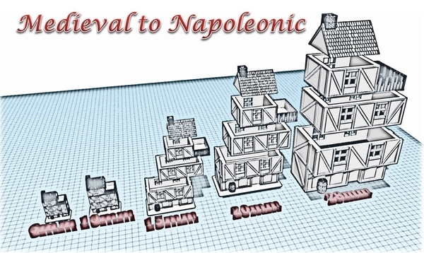 Medium Building 1 - Wargame medieval to napoleonic 3D Printing 189931