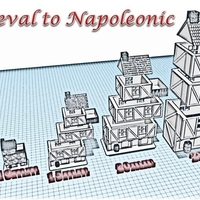 Small Building 1 - Wargame medieval to napoleonic 3D Printing 189931