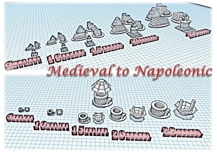 Accessories 1 - Wargame medieval to napoleonic 3D Print 189936