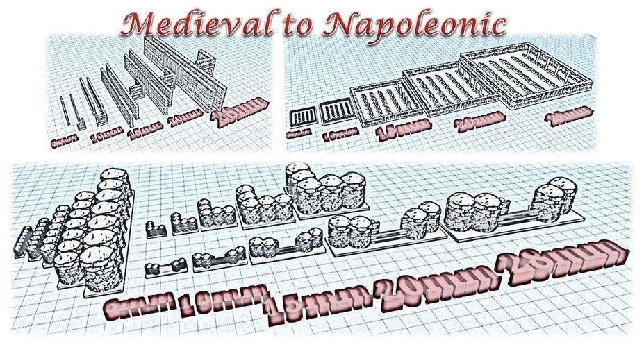Accessories 2 - Wargame medieval to napoleonic