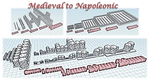Medium Accessories 2 - Wargame medieval to napoleonic 3D Printing 189937