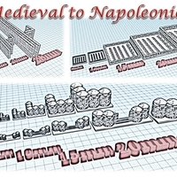 Small Accessories 2 - Wargame medieval to napoleonic 3D Printing 189937