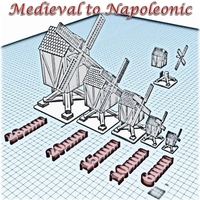 Small Windmill - Wargame medieval to napoleonic 3D Printing 189938