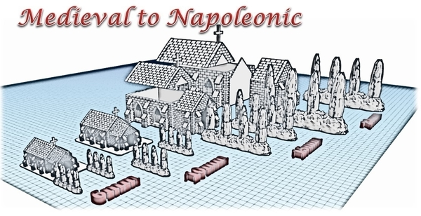 Medium Church - Wargame medieval to napoleonic 3D Printing 189944