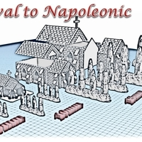 Small Church - Wargame medieval to napoleonic 3D Printing 189944