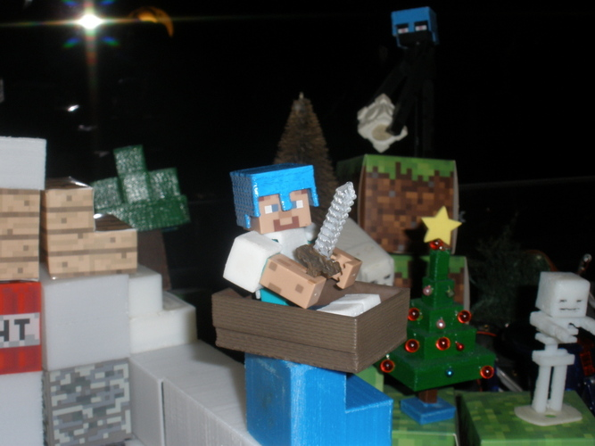 Boat from Minecraft scaled to Minecraft figures sold in stores 3D Print 18995