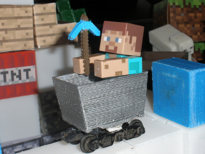 Mine cart for Minecraft toy figures 3D Print 18996