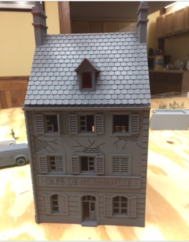 Cafe Normandie.  Perfect for Bolt Action 3D Print 190010