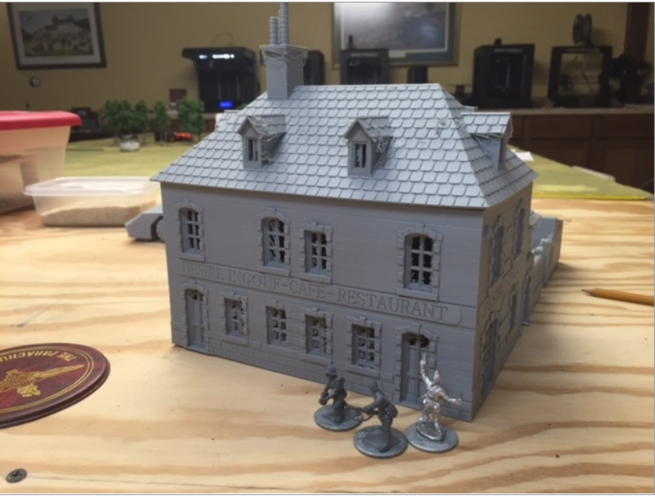 "Cafe ""Desire Ingouf"".  Perfect for Bolt Action 3D Print 190016"