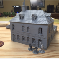"Small Cafe ""Desire Ingouf"".  Perfect for Bolt Action 3D Printing 190016"
