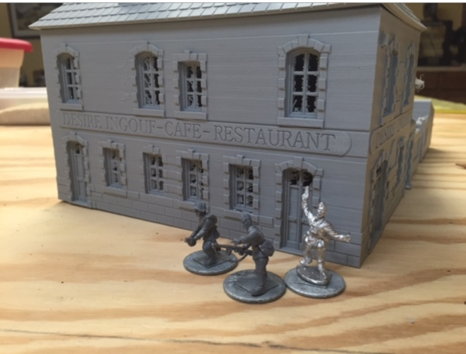 "Cafe ""Desire Ingouf"".  Perfect for Bolt Action 3D Print 190017"