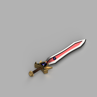 Small Garen's Sword From LoL 3D Printing 190062