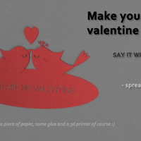 Small VALENTINE CUSTOM CARD 3D Printing 190116