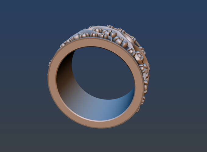 Ring with flowers 3D Print 190161