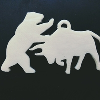 Small Bull and bear 3D Printing 190182