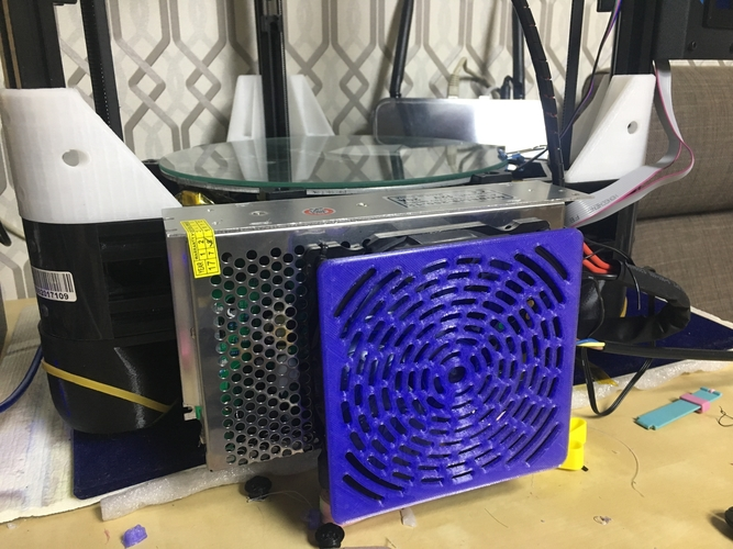 120mm PC cooler and cover for delta 3d printer 3D Print 190237
