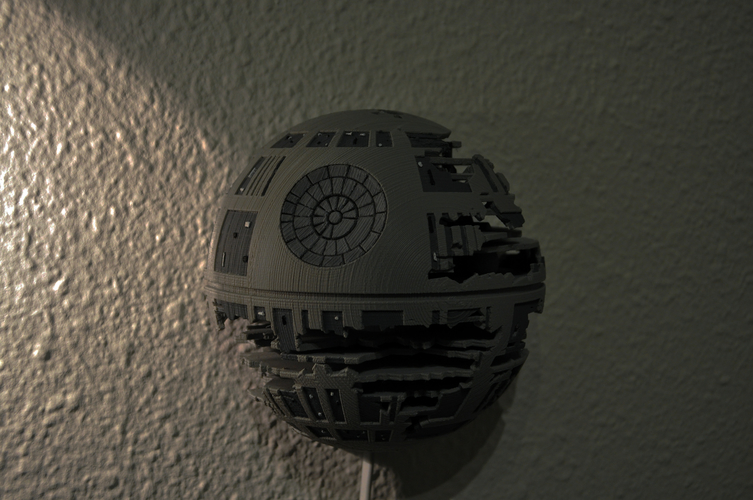 Death Star Wall Lamp (Star Wars) 3D Print 190464