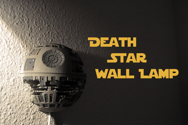 Medium Death Star Wall Lamp (Star Wars) 3D Printing 190465