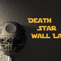Small Death Star Wall Lamp (Star Wars) 3D Printing 190465