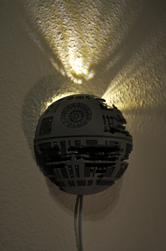 Death Star Wall Lamp (Star Wars) 3D Print 190466