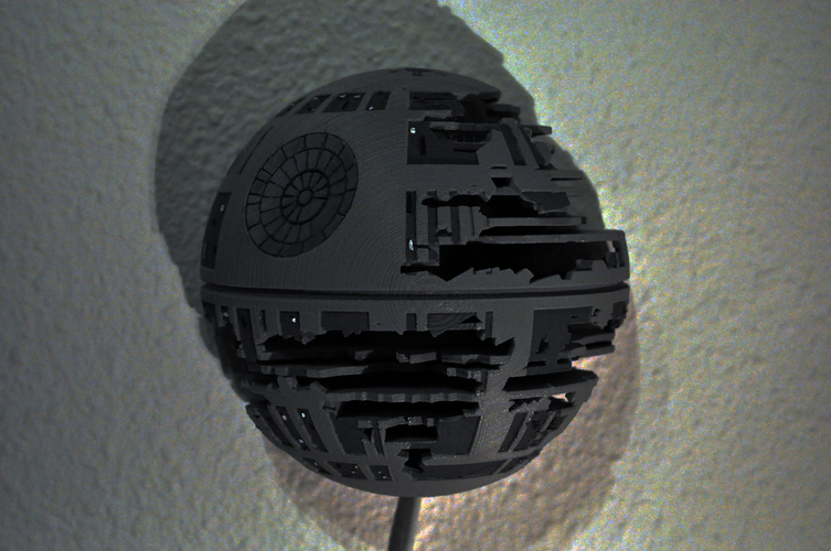 Death Star Wall Lamp (Star Wars) 3D Print 190467