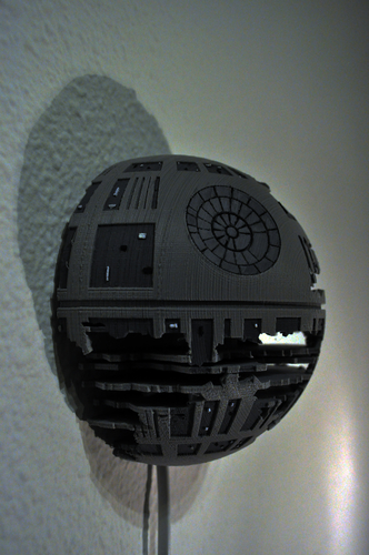 Death Star Wall Lamp (Star Wars) 3D Print 190468