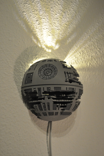 Death Star Wall Lamp (Star Wars) 3D Print 190469