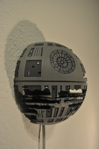 3d Printed Death Star Wall Lamp Star Wars By Eolus