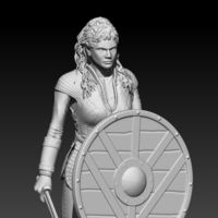 Small Lagertha 3D Printing 190482