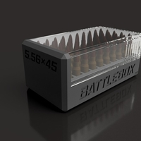 Small  BATTLEBOX 5.56x45 NATO 3D Printing 190655