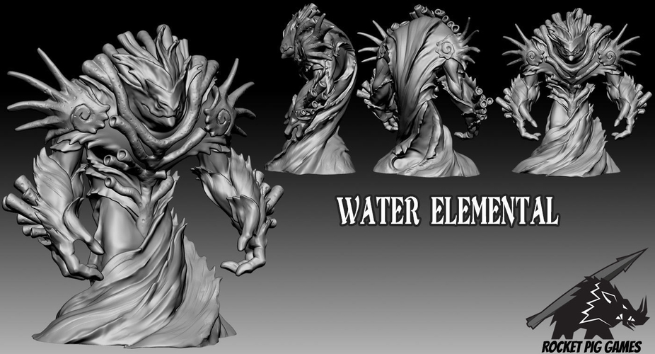 Rocket Pig Games Water Elemental 3D Print 190675