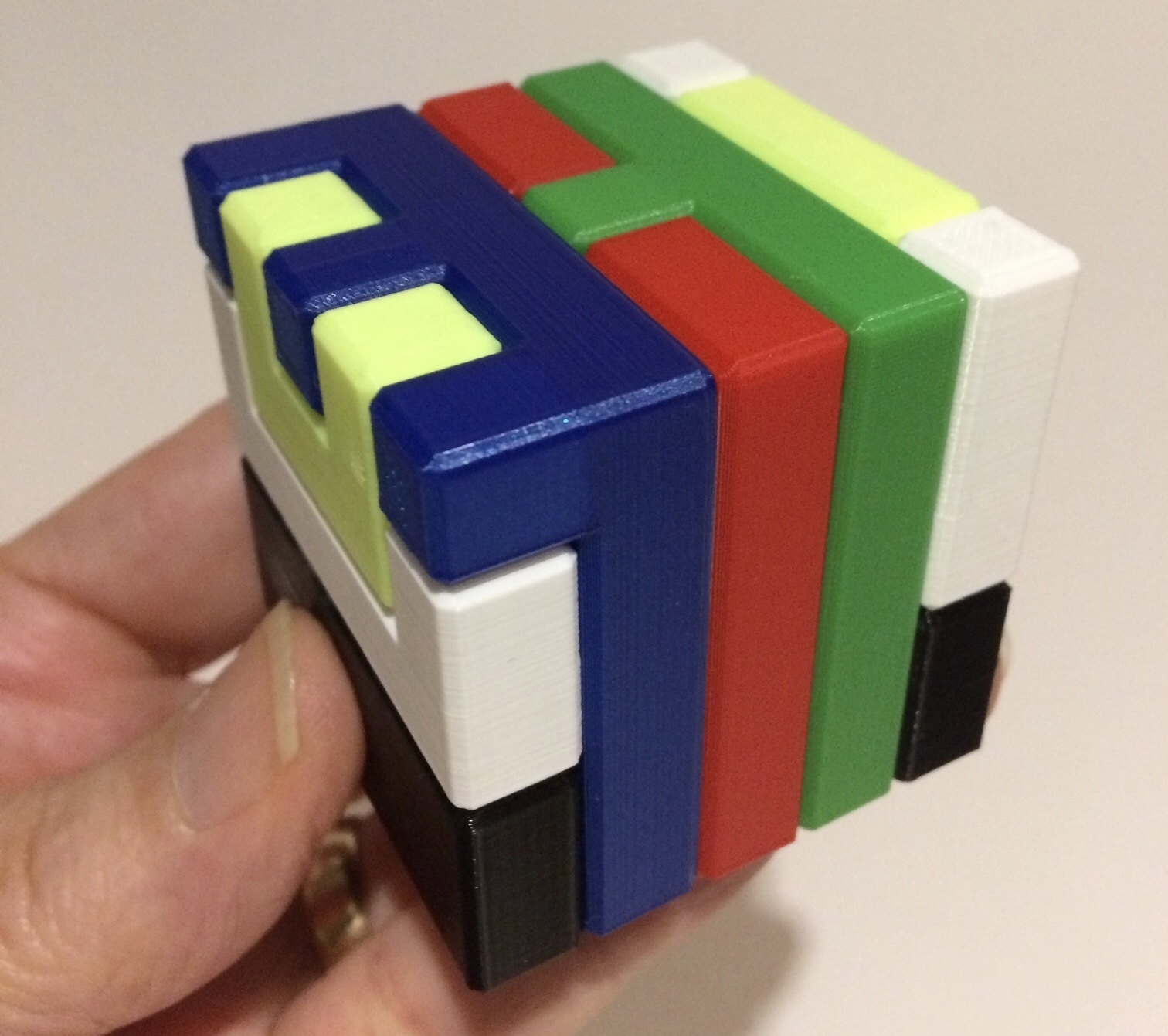 506af8e41e1eb Printable Interlocking Puzzle #4 - Level 11 by richgain @ Pinshape