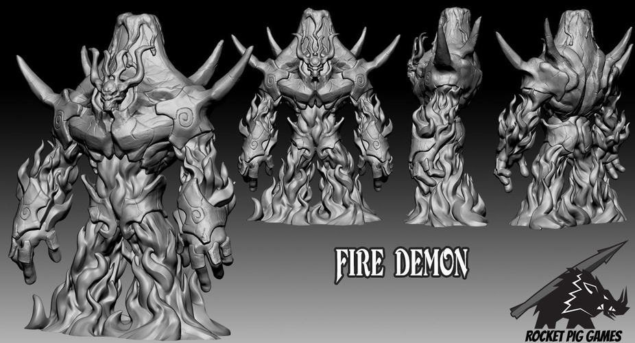 Rocket Pig Games Fire Demon 3D Print 190828