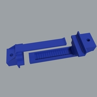 Small Adjustable Battery Tie Down 3D Printing 19088