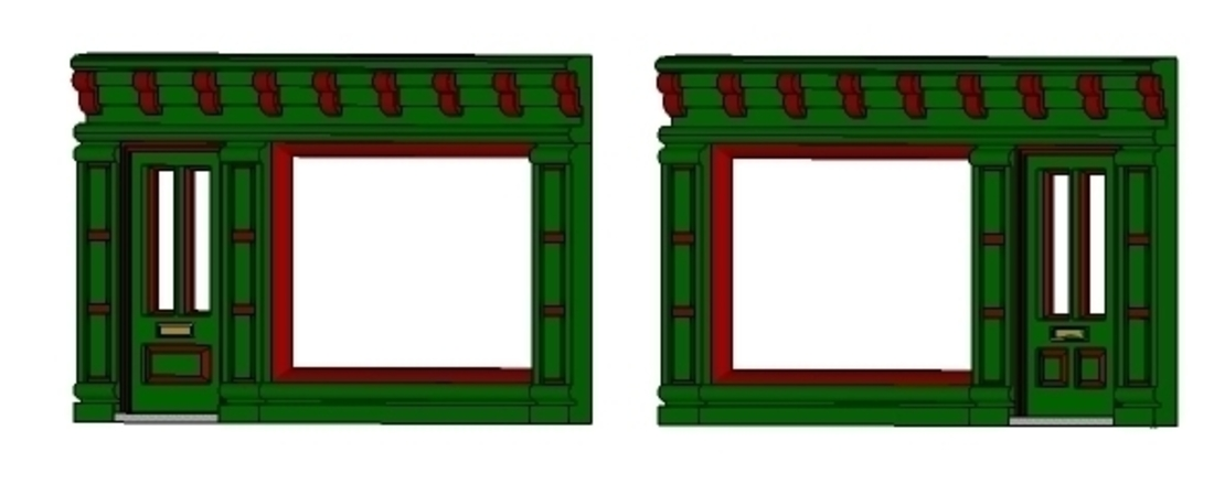 SCALEPRINT SINGLE SHOP FRONTS LEFT AND RIGHT 00/HO SCALE 3D Print 190883