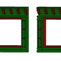 Small SCALEPRINT SINGLE SHOP FRONTS LEFT AND RIGHT 00/HO SCALE 3D Printing 190883