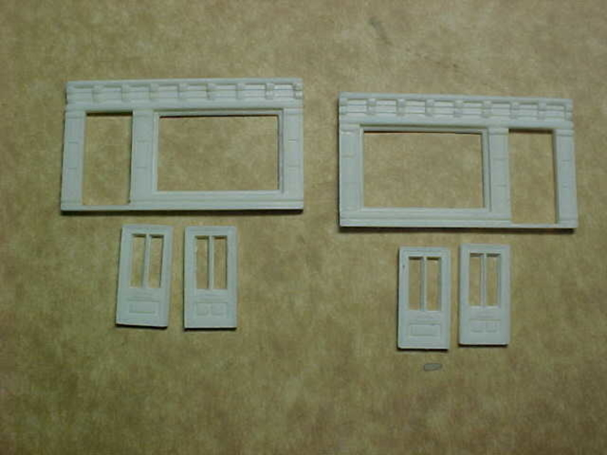 SCALEPRINT SINGLE SHOP FRONTS LEFT AND RIGHT 00/HO SCALE 3D Print 190885