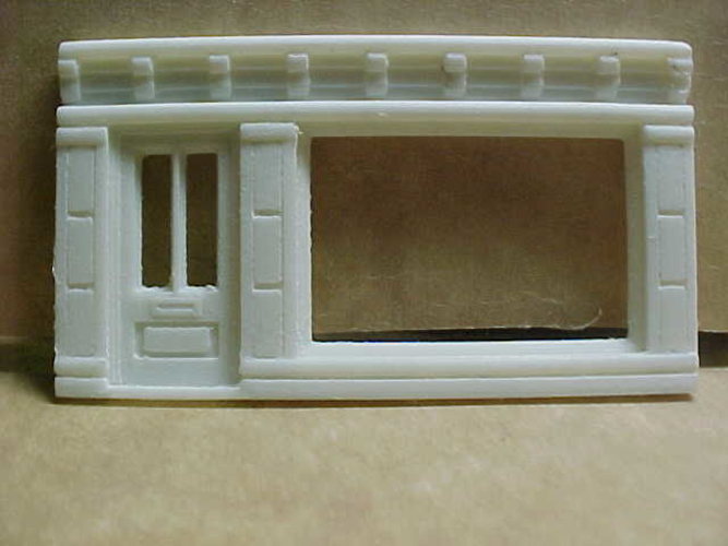 SCALEPRINT SINGLE SHOP FRONTS LEFT AND RIGHT 00/HO SCALE 3D Print 190886