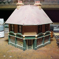 Small SCALEPRINT CORNER SHOP FRONT 00/HO SCALE 3D Printing 190889