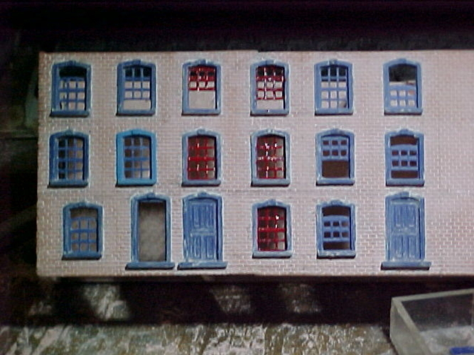 SCALEPRINT TERRACE HOUSES FRONT WINDOW/DOOR SET 00/HO SCALE 3D Print 190900