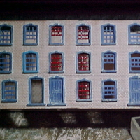 Small SCALEPRINT TERRACE HOUSES FRONT WINDOW/DOOR SET 00/HO SCALE 3D Printing 190900