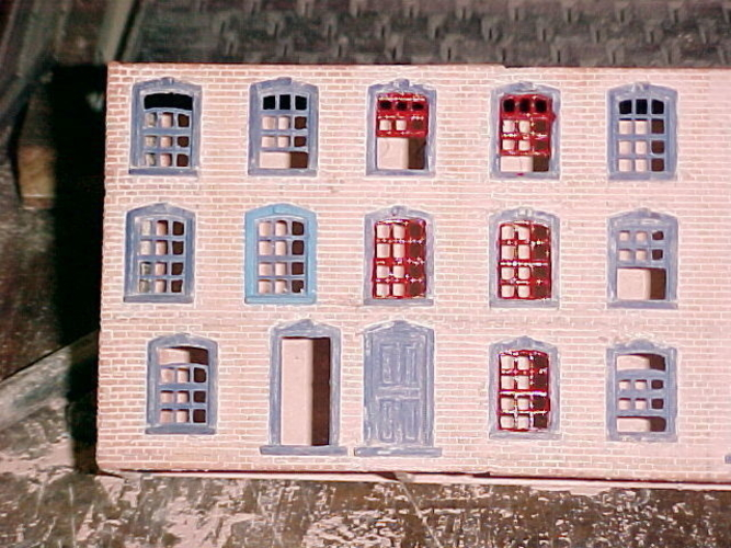 SCALEPRINT TERRACE HOUSES FRONT WINDOW/DOOR SET 00/HO SCALE 3D Print 190901