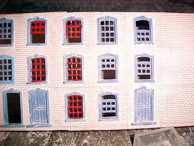 SCALEPRINT TERRACE HOUSES FRONT WINDOW/DOOR SET 00/HO SCALE 3D Print 190902