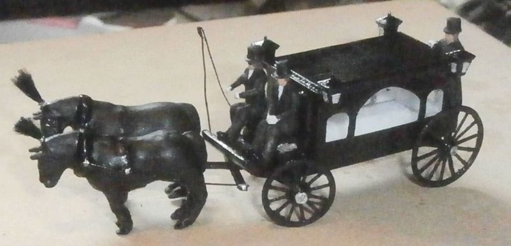 SCALEPRINT HORSE DRAWN HEARSE 00 HO SCALE 3D Print 190911