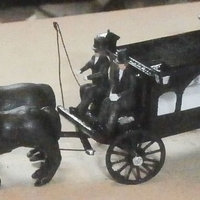 Small SCALEPRINT HORSE DRAWN HEARSE 00 HO SCALE 3D Printing 190911