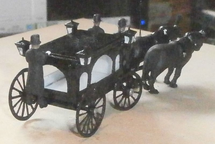 SCALEPRINT HORSE DRAWN HEARSE 00 HO SCALE 3D Print 190912